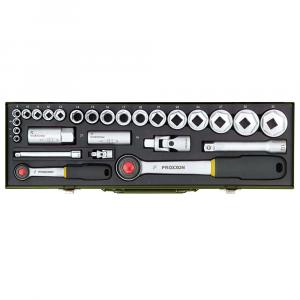 """Set nasadnih ključeva za automehaničare PROXXON 1/4"""" i 1/2"""" 27-djelni"""
