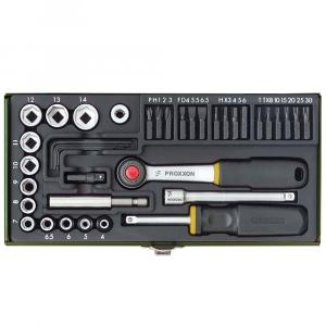 Set nasadnih ključeva 1/4'' 4-14 mm / 35 kom