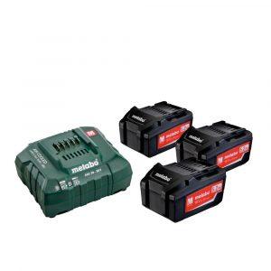 Akumulatorski komplet Metabo Basic 18V Li 3x4,0Ah