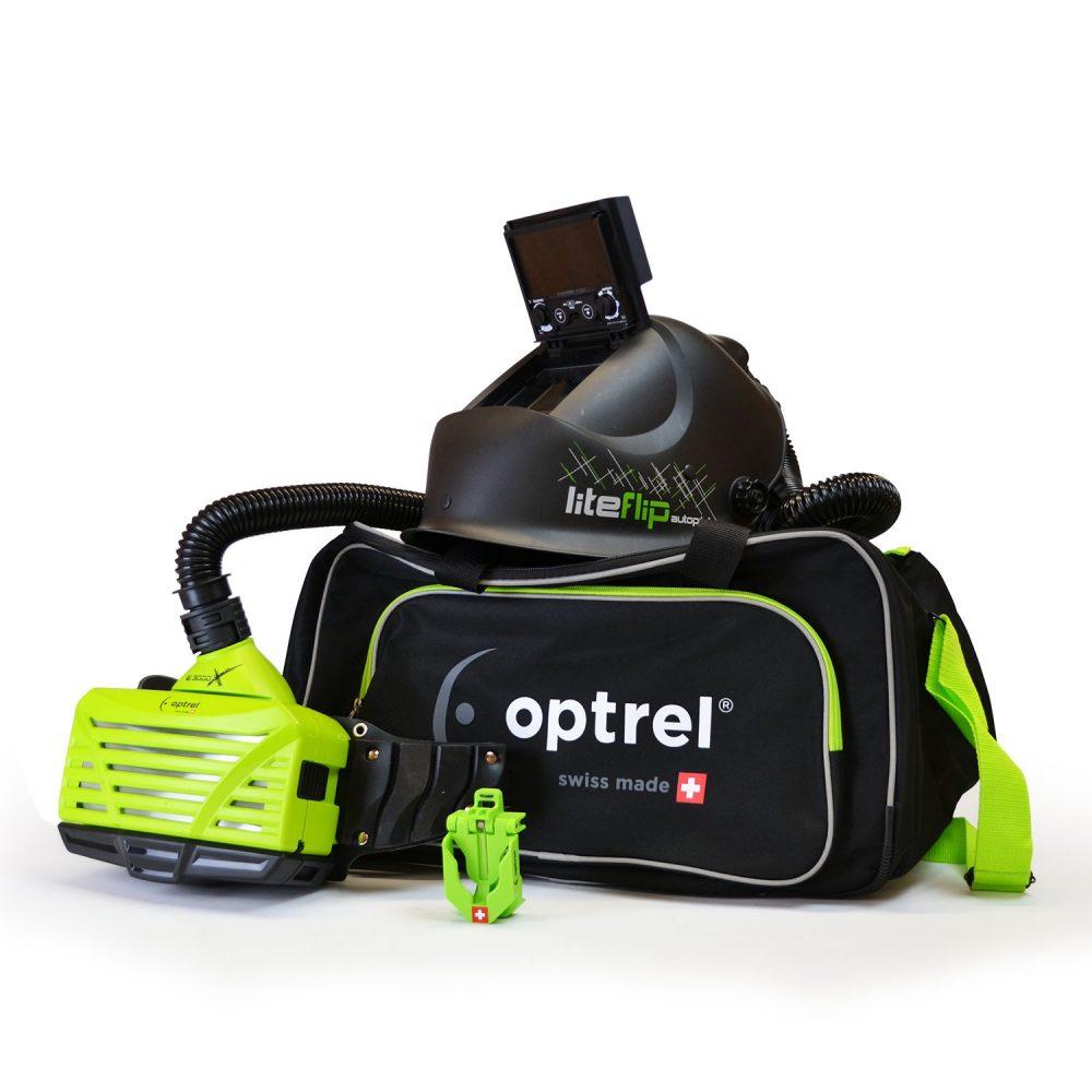Optrel filter e3000x green + Liteflip Autopilot PAPR