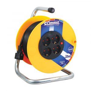 COMMEL kabelska motalica na PVC bubnju 230 mm 3x1,5 25m 0955 PP/J